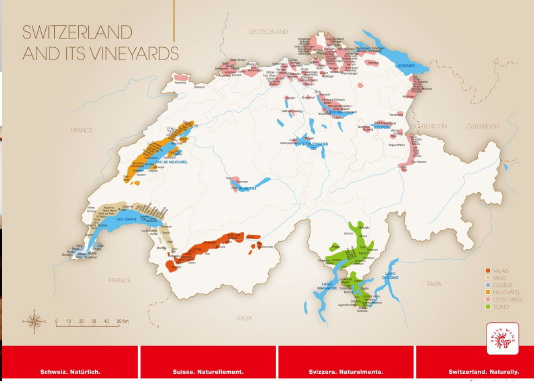 wine map Switzerland vineyards